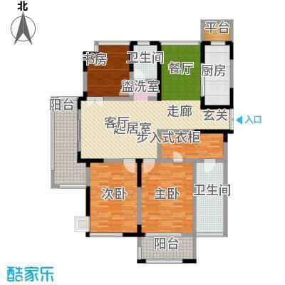 中茵星墅湾135.00㎡3、4、5号楼A户型3室2厅2卫户型3室2厅2卫