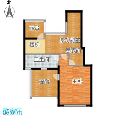 北京奥林匹克花园199.62㎡四期c1-sy跃层(上)户型1室1卫