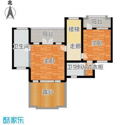 滨海湖85.00㎡滨海湖双拼F二层户型图2室2厅1卫1厨85.00平米户型2室2厅1卫