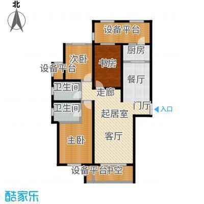 鼎旺大观136.81㎡A5户型3室2厅2卫136.81㎡户型3室2厅2卫