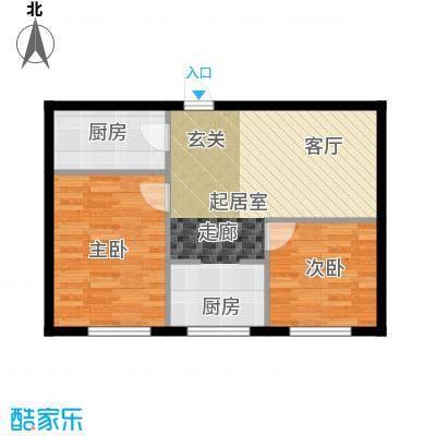 美林香颂61.50㎡两室一厅一卫户型2室1厅1卫