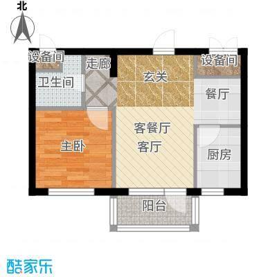 大港永安四季53.00㎡D户型1室2厅1卫