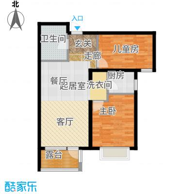 金隅・观澜时代85.00㎡G11户型2室2厅1卫