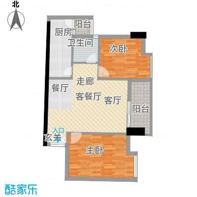 广弘天琪67.08㎡户型2室1厅1卫1厨