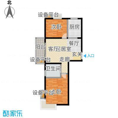 新城府翰苑81.97㎡二房二厅一卫-81.97平方米-17套户型