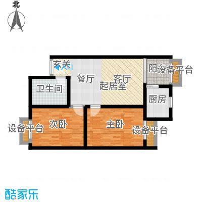 晶筑逸品78.92㎡晶筑逸品户型图H(5/13张)户型2室2厅1卫