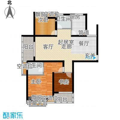 新城尚东区-户型3室2卫1厨