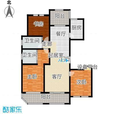 青枫壹号146.07㎡D户型3室2厅2卫户型3室2厅2卫
