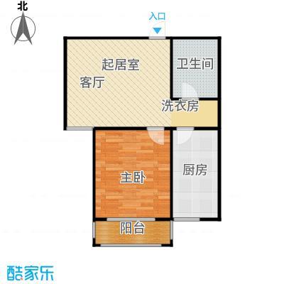 丽景盛园63.02㎡D3户型 1室2厅1卫63.02平户型1室2厅1卫