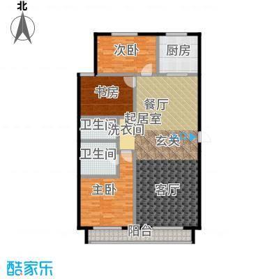 顺鑫・华玺瀚�166.00㎡N5户型3室2卫1厨