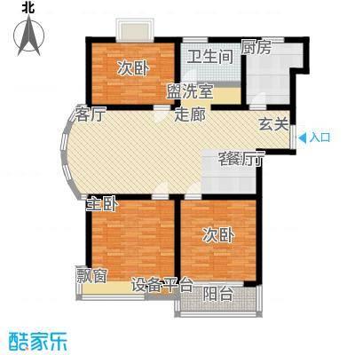 怡和花园110.00㎡怡和花园户型图三房110平米(3/3张)户型10室