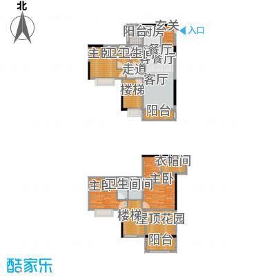 金田花园花域户型3室1厅4卫1厨