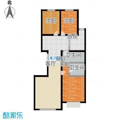 盛世华庭145.66㎡B户型3室2厅2卫
