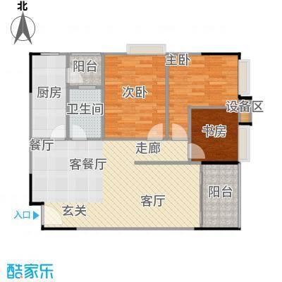 鸿福花园93.37㎡鸿福花园户型图E三房两厅一卫(4/4张)户型10室
