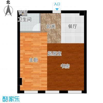 城市金领51.00㎡城市金领户型图D户型(3/5张)户型10室
