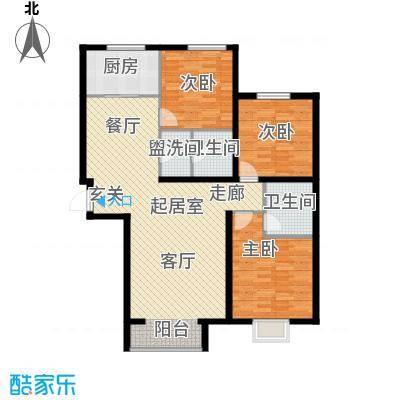 融域134128.00㎡B3户型3室2厅2卫