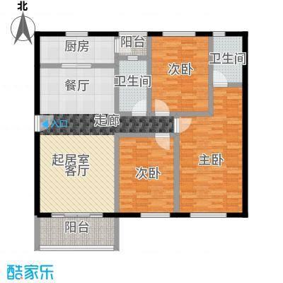 祈福新村111.71㎡24栋2/F-02户型3室2卫1厨