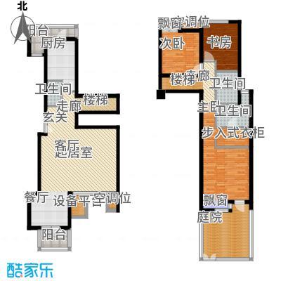 景瑞阳光尚城B1户型2室1厅2卫