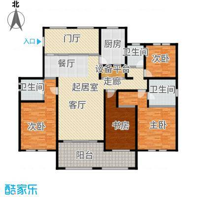 青枫壹号209.21㎡I户型4室2厅3卫户型4室2厅3卫