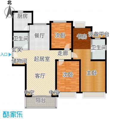 合生前滩一墅143.00㎡C2户型3室2厅2卫