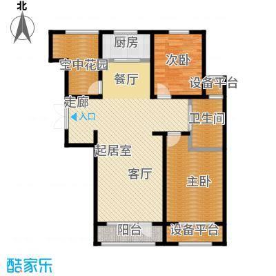 保利西海岸114.88㎡A3户型 2室2厅户型2室2厅1卫