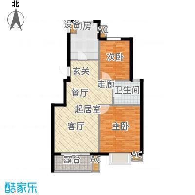 缇香漫城88.00㎡D户型二室二厅一卫户型2室2厅1卫QQ