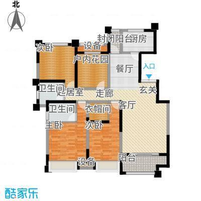 中海凯旋门147.00㎡中海凯旋门户型图D户型(1/2张)户型3室2厅2卫