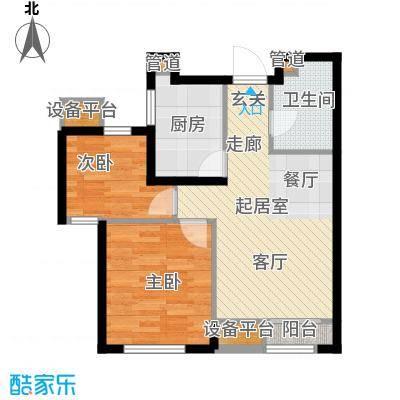 龙跃财富公馆81.00㎡D户型2室2厅1卫
