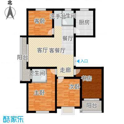 上书房127.80㎡上书房37#甲单元01室、丙单元02室3-10层户型图户型4室2厅2卫