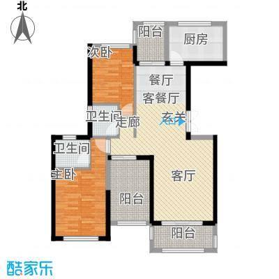 景湖荣郡N+户型2室1厅2卫1厨