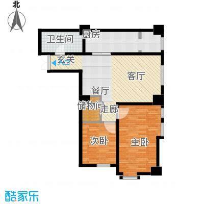 盛世馨都广场111.25㎡B户型2室2厅1卫
