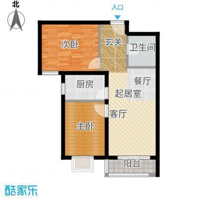 世纪龙庭二期89.00㎡D3户型2室2厅1卫