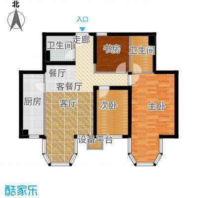 合生君景湾112.60㎡3室2厅2卫户型3室2厅2卫