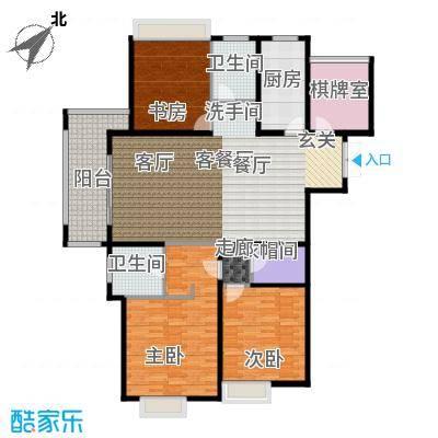 绿地白金汉宫143.96㎡A1、A2、A3、A4、A5、A6楼B4户型4室2厅2卫143.96平米户型4室2厅2卫