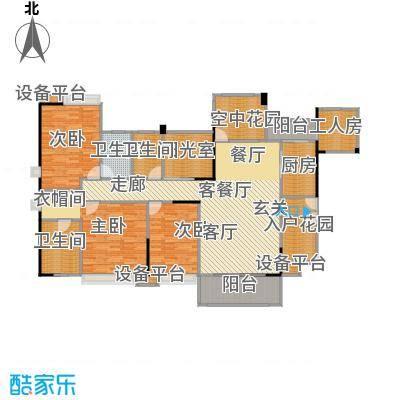 世纪城玫瑰公馆户型3室1厅3卫1厨