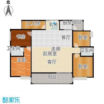 荔城花园户型2室2卫1厨
