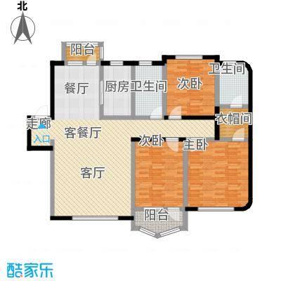 半岛印象户型3室1厅2卫1厨