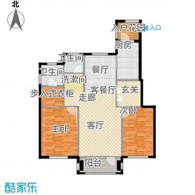 红星海世界观110.00㎡海麓17#地小高层户型2室1厅2卫1厨
