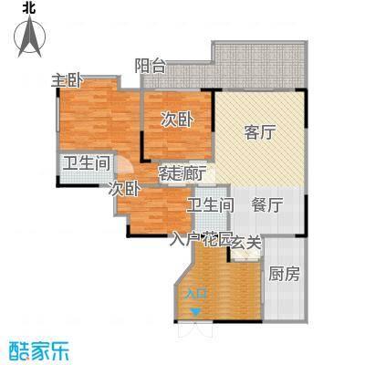 宏新华庭111.71㎡A栋-305户型3室1厅2卫1厨