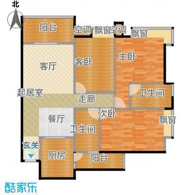 广弘天琪户型3室2卫1厨