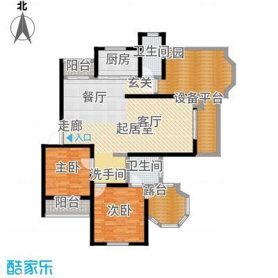南天阳光南天阳光N017户型 两房两厅两卫 2室2厅2卫1厨户型