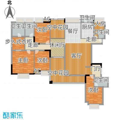 中信森林湖二期琥珀洲户型4室1厅5卫1厨