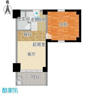 众一富东广场70.05㎡D户型1室1厅1卫
