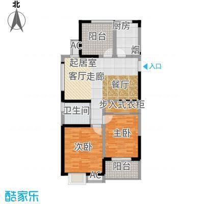 河海新邦102.00㎡城果户型C(2+1)房两厅一卫102平米户型3室2厅1卫