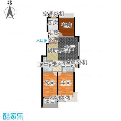 金田雅居121.99㎡金田雅居户型图三房二厅二卫-121.99平方米-18套(5/5张)户型10室