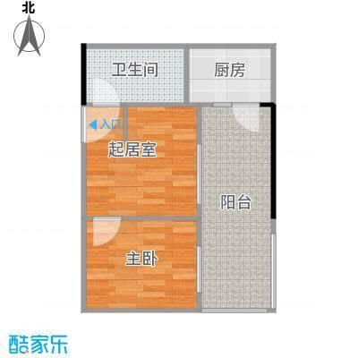 保利中辰广场42.00㎡B1栋08单元户型1室1卫1厨