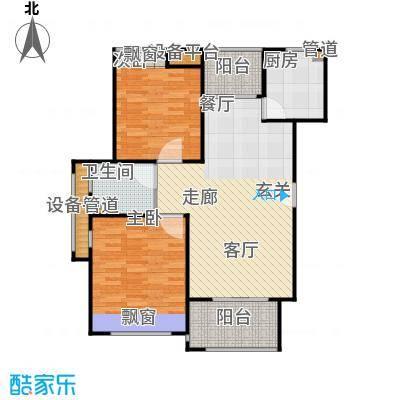 瀛通金鳌山公寓93.00㎡A户型2室2厅1卫