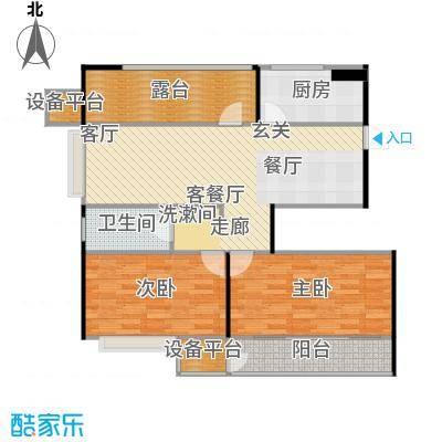 阳光福地98.23㎡二房二厅一卫-98.23平方米-27套。户型