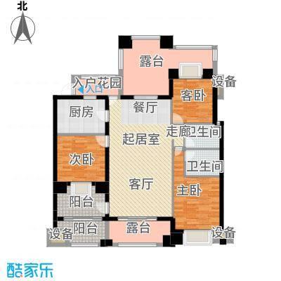 新宇拉菲公馆123.00㎡B3户型3室2厅2卫