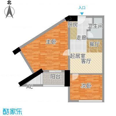 众一富东广场82.28㎡G户型1室1厅1卫